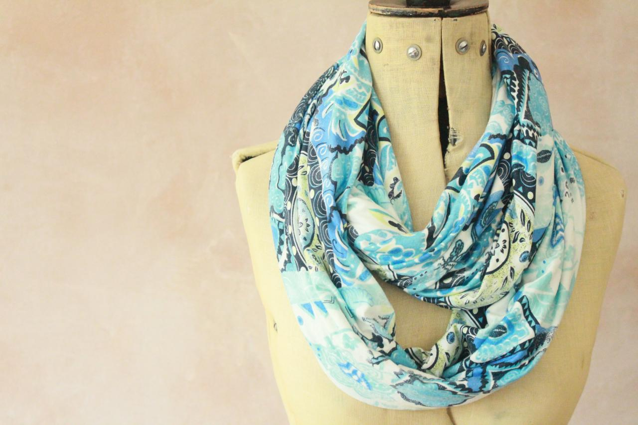 Infinity scarf - Snood, Eternity scarf, Circle scarf, Jersey scarf, Tube scarf, Loop scarf, Snood, T-Shirt scarf - Floral
